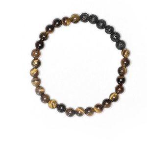 Jewelry - 2/$20 ▪️ Tiger's Eye & Lava Stone Bracelet